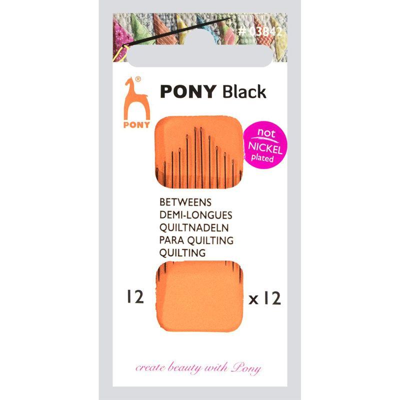Black Betweens Quilting needles 12mm - Pony