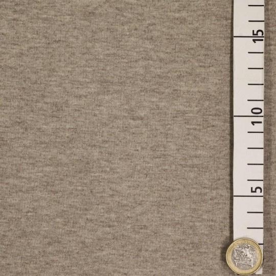 355 Melange bruine Joggingstof Brushed