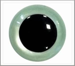 6mm Blue/ Green Pearl Veiligheidsoogjes , 5 paar