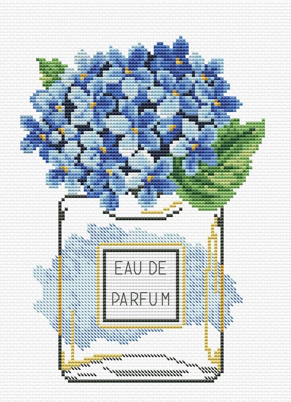 Hydrangea Bloom Voorbedrukt borduurpakket - Needleart World