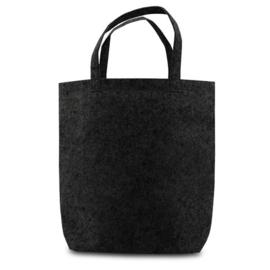 'Tote' vilten tas zwart