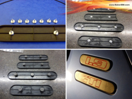 205 rear quarter badge repair kit