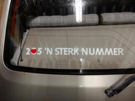 205 'N Sterk Nummer Sticker