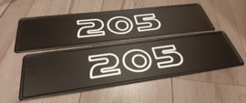 Peugeot '205' dealership plates set