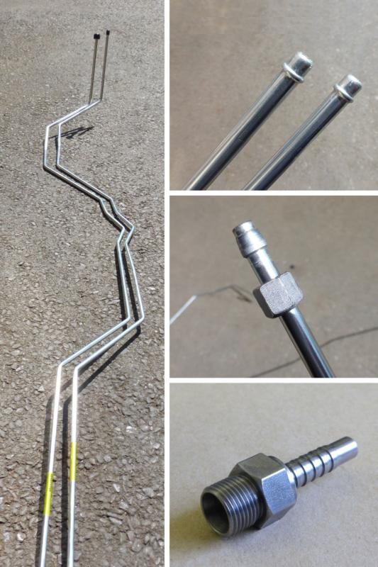 205 GTI CNC Bent Steel Fuel Lines