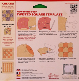 Sew Easy Template_Twisted Square
