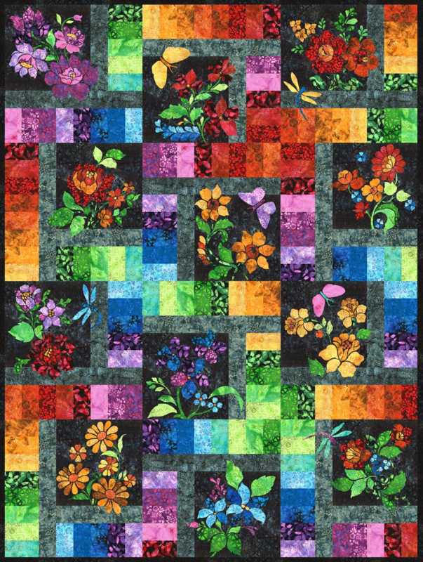 12 month enchanted garden bom pattern