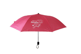 Paraplu 'schuilen' juf of meester