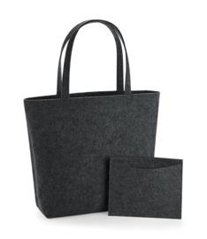 Luxe vilten tas   met binnenvakje