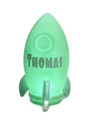 Raketlampje met naam
