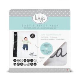 Lulujo Baby's first blanket 'Loved Beyond Measure'