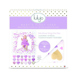 Lulujo Baby's first blanket 'with brave wings she flies'