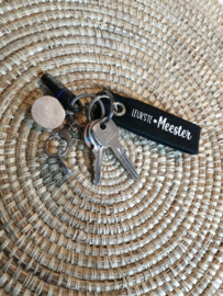 Vilten sleutelhanger | Liefste juf of Leukste meester