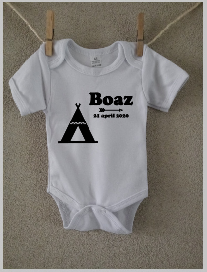 Romper  met naam   Design 'Boaz'