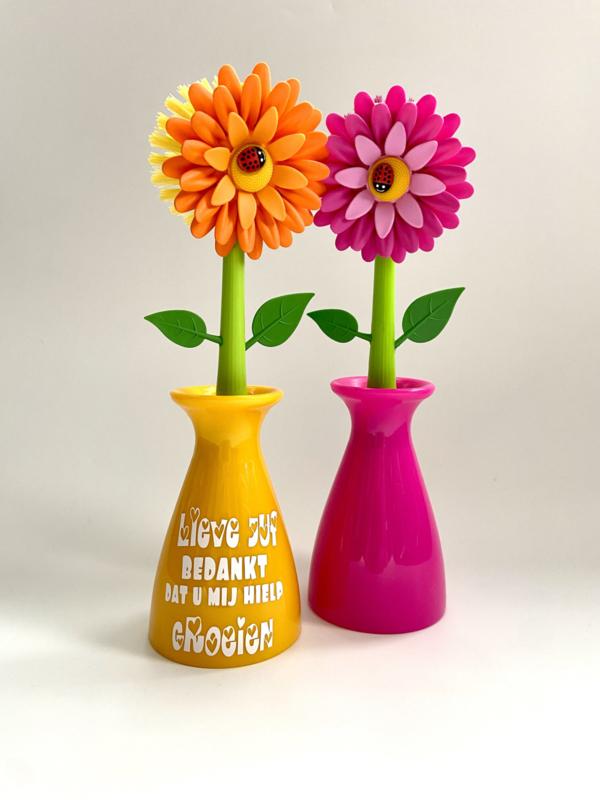 Afwasborstel bloem