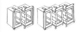 Frame tbv inbouwschakelaar model Marine