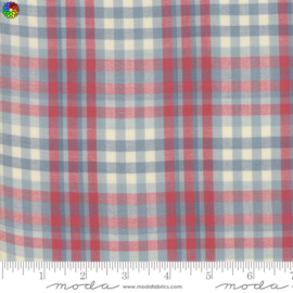 Northport Silky Plaid Blue Red 12215-11