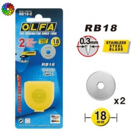Olfa vervangmes 18 mm RB12
