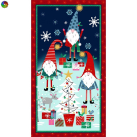 Holiday Gnomes Panel CM8872 navy D