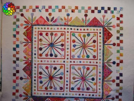 Atomic Bloom quiltpatroon