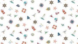 Marina Icons Scatter White