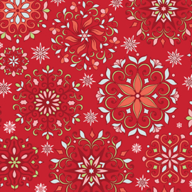 Snowflakes Red 3536-10