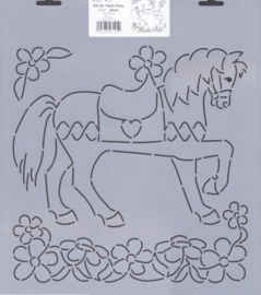 Pretty Pony Quilting stencil