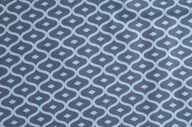 Navy Blue Geometric