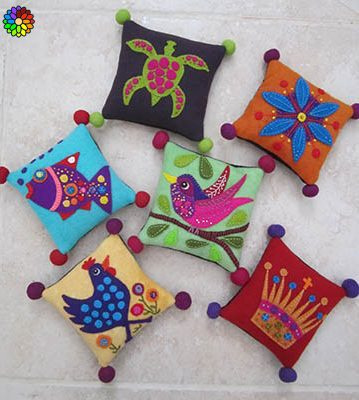 Woolly Pincushions quiltpatroon
