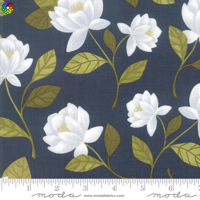 Goldenrod Raleigh Floral Navy 36050-12