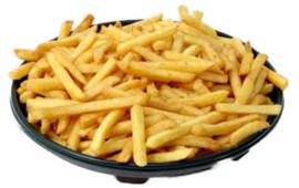 Patat groot bord  inc. mayonaise of ketchup