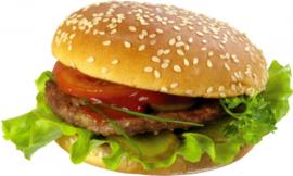 Broodje hamburger varkensvlees