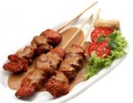 Sate chicken 3 sticks with peanut sauce