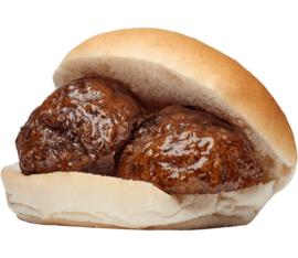 Broodje varkens gehaktbal