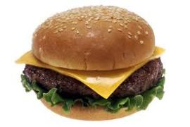 Broodje hamburger varkensvlees met kaas