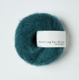 Knitting for Olive Soft Silk Mohair Petroleum Green