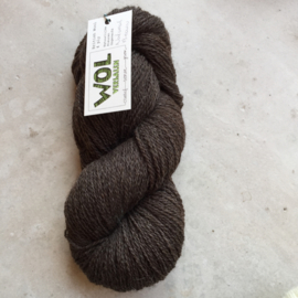 British Wool 4ply  Natural Brown -ongeverfd-