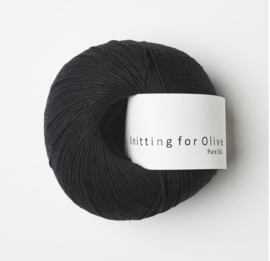 Knitting for Olive Pure Silk Coal