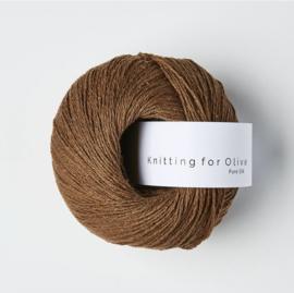 Knitting for Olive Pure Silk Dark Cognac
