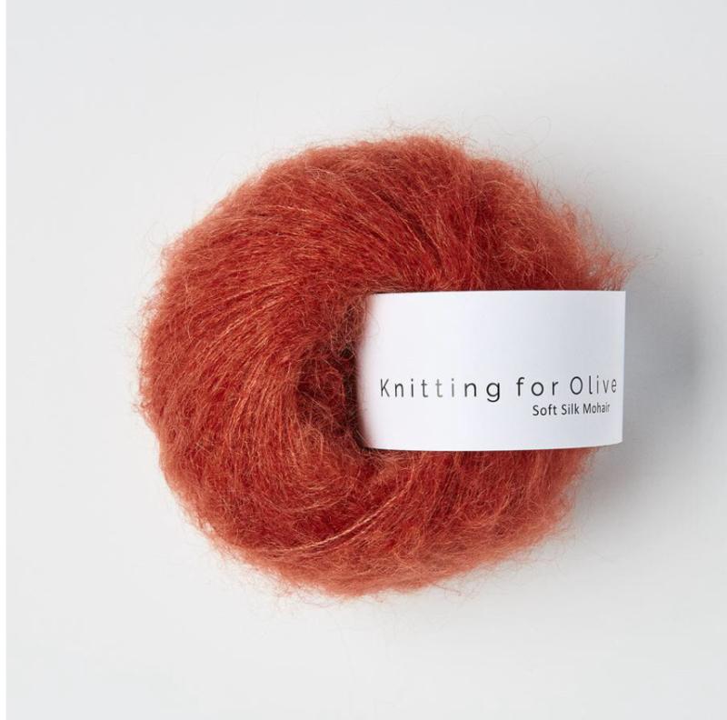 Knitting for Olive Soft Silk Mohair Pomegranate