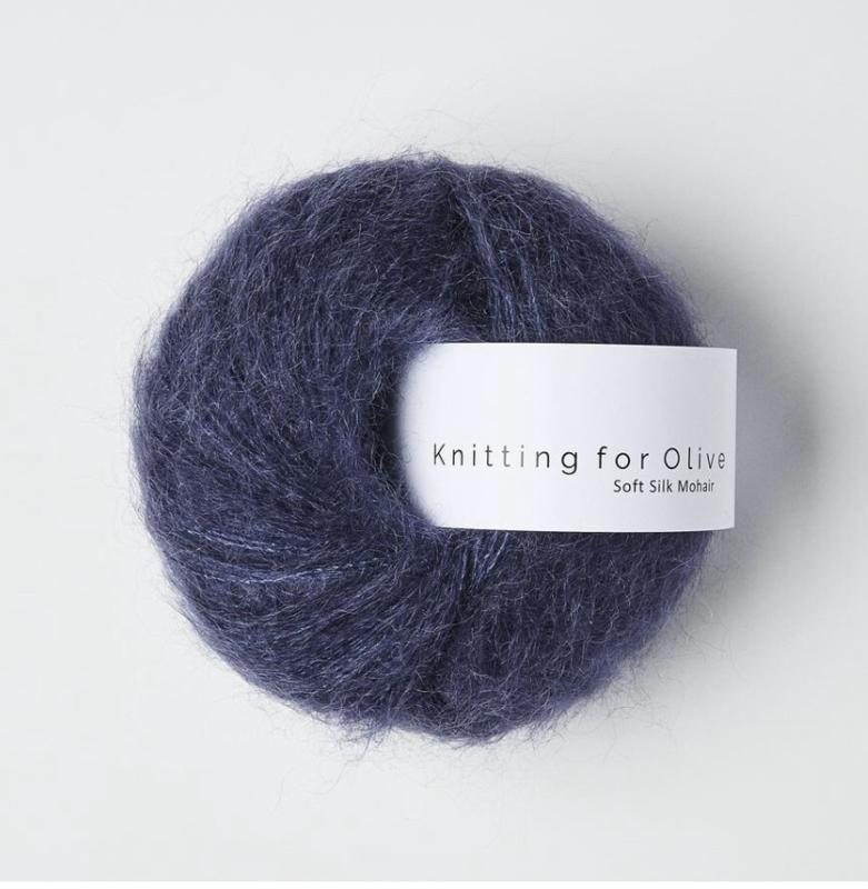 Knitting for Olive Soft Silk Mohair Dark Blue