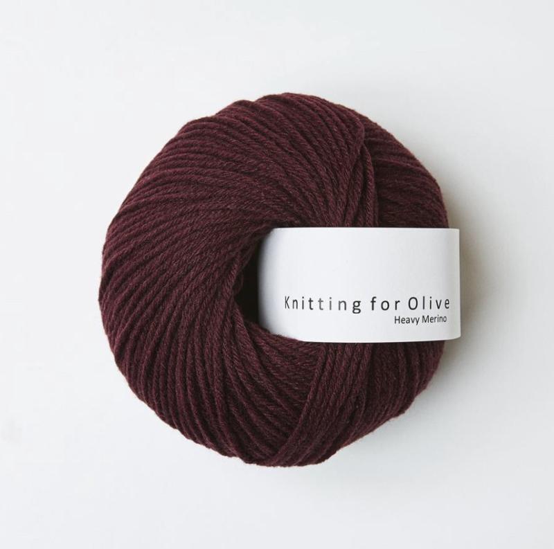 Knitting for Olive Heavy Merino Bordeaux