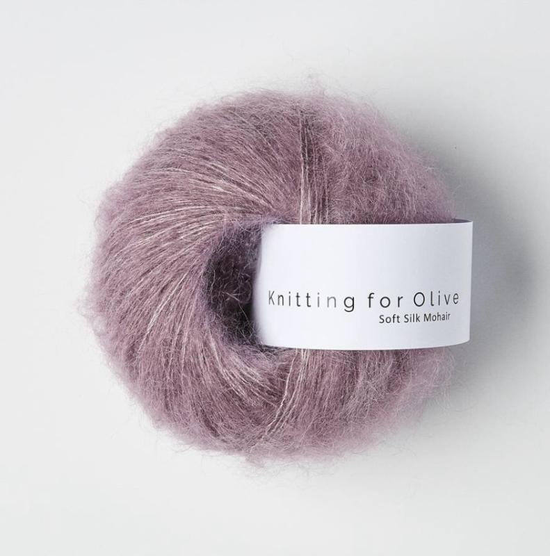 Knitting for Olive Soft Silk Mohair Artichoke Purple