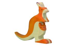 Holztiger kangoeroe met  jong