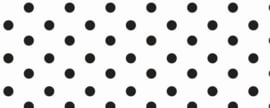 Grote dot poplin (wit/ zwart)