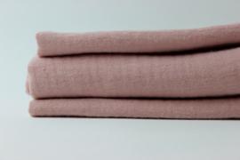 Spuugdoekje hydrofiel roze nude