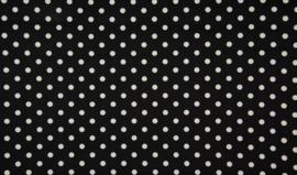 Grote dot Poplin (zwart/ wit)
