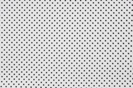 Stip klein Poplin (wit/ zwart)