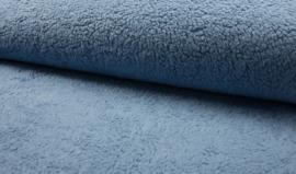 Borgstof/ Teddy katoen dusty blue