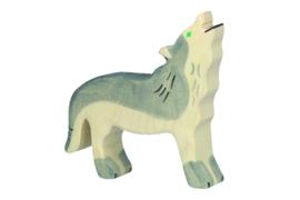 Holztiger huilende wolf
